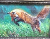 Spring Fling-Red Fox (original oil painting)