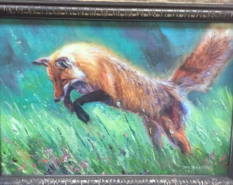 Spring Fling-Red Fox (original oil painting)