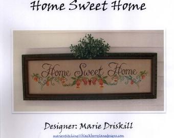 Blackberry Lane Designs: Home Sweet Home - Cross Stitch Pattern