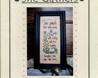 4 My Boys: She Gathers -  Cross Stitch Pattern