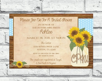 Sunflower Bridal Invitation