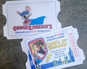 Chuck E Cheese Birthday Invite