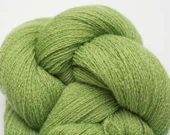 April Leaf Green Recycled Extra Fine Grade Merino Lace Weight Yarn, 4265 Yards Available