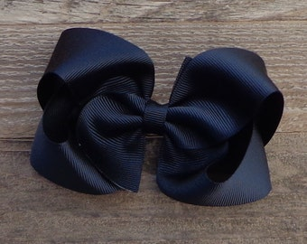 Boutique Hair Bow~Black Boutique Bow~Large Boutique Bow~Basic Boutique Bow~Simple Boutique Bow~Christmas Bows~Newborn Bows~Boutique Bows
