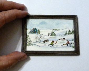 SALE - Original Ministure Painting - Framed