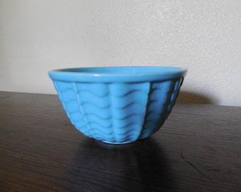 Vintage Robin Egg Blue Pottery Bowl