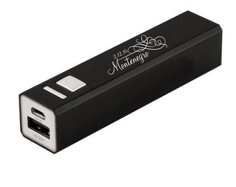 Portable USB Power Bank 2200 mAh 5 Amp output - Christmas Gift - Travel - Wedding Gift - Engraved Power Bank - Personalized Gift
