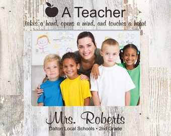 Personalized Teacher Photo Frame - Engraved Gift for Teacher - Teacher Gifts - Teacher Appreciation Gift