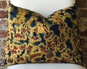 Lava Tie Dye Pillow w/ down insert - #4
