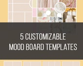 5 Customizable Mood Board Templates Bundle [SAVE 60%] | Inspiration Board | Blog Template | Photography Template | INSTANT DOWNLOAD