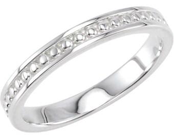 Rose Gold Stackable Ring, Vintage White Gold Engagement Band, Stacker Band, Wedding Ring, 14kt Yellow, White, or Rose Stackable Ring