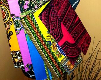 Dashiki candy colored purses/wristlets