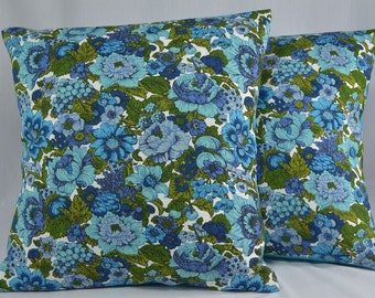 "Retro Pillow Cover Cushion Cover Vintage Pillow Retro Pillow Floral Pillow Midcentury Throw Pillow - 16"" Pillow Cover"