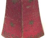 Vintage Red Metal Christmas Bell