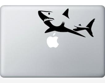 Great White Shark Silhouette Laptop Decal | Mac PC, Car, Computer iPad | vinyl sticker