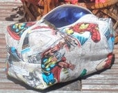 Marvel Comics Super Heroes Moisture Proof Ditty Bag, Toiletry Kit, Pencil Case, Cosmetics Pouch