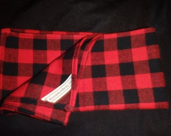 Red & Black Buffalo Plaid Table Runner - Table Topper - Table Cloth - Yarn Dyed