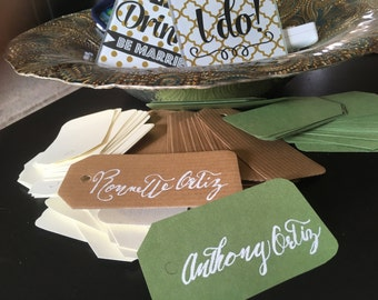 Personalized, Handwritten Place Cards