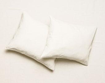 Off white linen bedding set, Linen sheet set Flat, fitted sheets & pillowcases. Linen bedding Queen Linen sheets King Twin Full Double