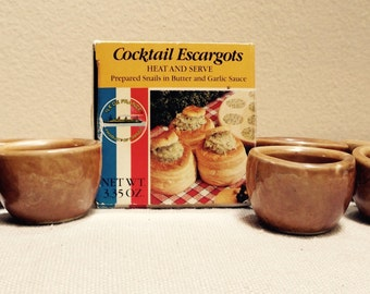 French vintage escargot cups