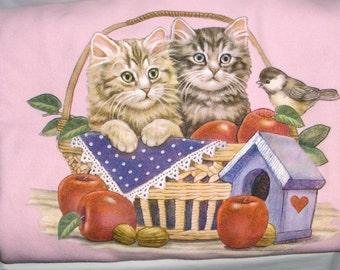 Cats in a Basket - Crew  Neck Sweatshirt