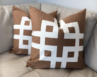 Two, Greek Key Pillow Covers, 20X20