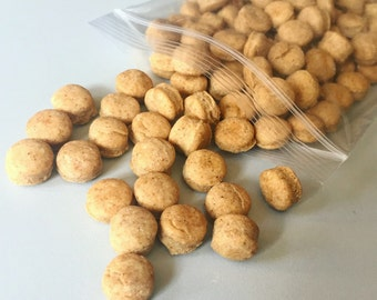 Peanut Butter Buttons - Bite Sized Training Treats for Dogs - Great for Small Dogs - Itty Bitty Buttons - All Natural