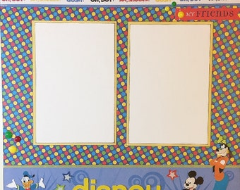 Disney - 12x12 Premade 1 Page Scrapbook Layout
