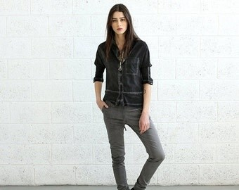 Valentines day Final Summer SALE Women Trousers Pencil Skinny Pants, Gray.