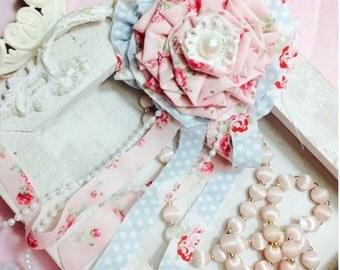 Shabby Chic Fabric Flower, Cottage Chic Flower, Wedding Flower, Romantic Flower, Handmade flower, Custom made flower
