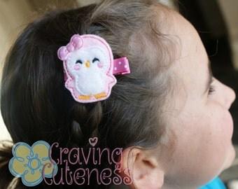 Adorable Penguin Hair Clip - Meet Miss Peppie