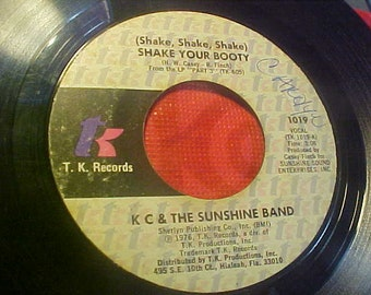 Shake Your Booty KC and the Sunshine Band 1019 TK Records Vintage 70s Vinyl Record