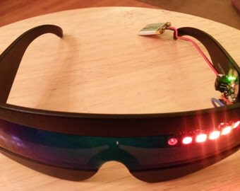 Made-to-Order Customized LED Scanner Sunglasses