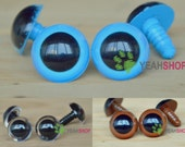 24mm Colorful Safety Eyes Plastic Doll Eyes - Clear / Blue / Brown