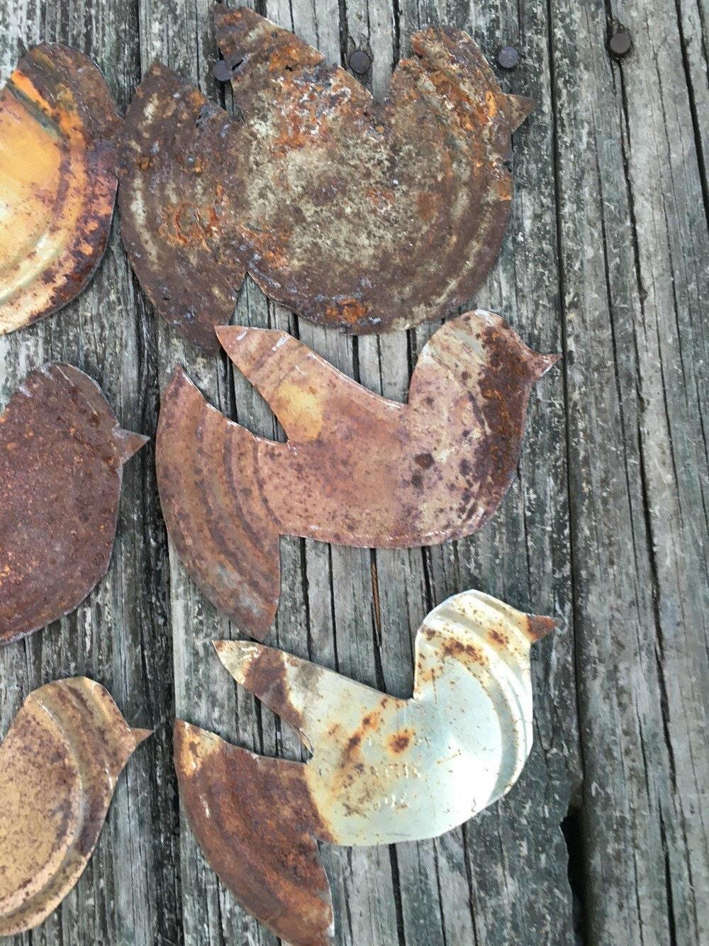 Rusty tin craft supplies -  10 04