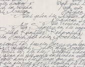 Modern Background Paper Handwriting Black on Fog, Brigitte Heitland, Zen Chic, Moda Fabrics, 100% Cotton Fabric, 1580 25