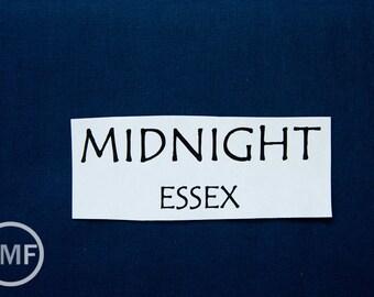 One Yard Midnight Essex, Linen and Cotton Blend Fabric from Robert Kaufman, E014-1232