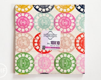 Playful Ten by Tens, Layer Cake, Melody Miller, Cotton and Steel, RJR Fabrics, Pre-Cut Fabric Squares, 0999-11