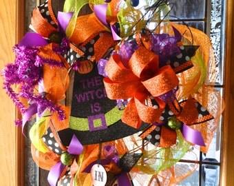 Halloween Wreath, Wreath Deco Mesh, Halloween Deco Mesh Wreath, Fun Halloween Wreath, Halloween Door Wreath
