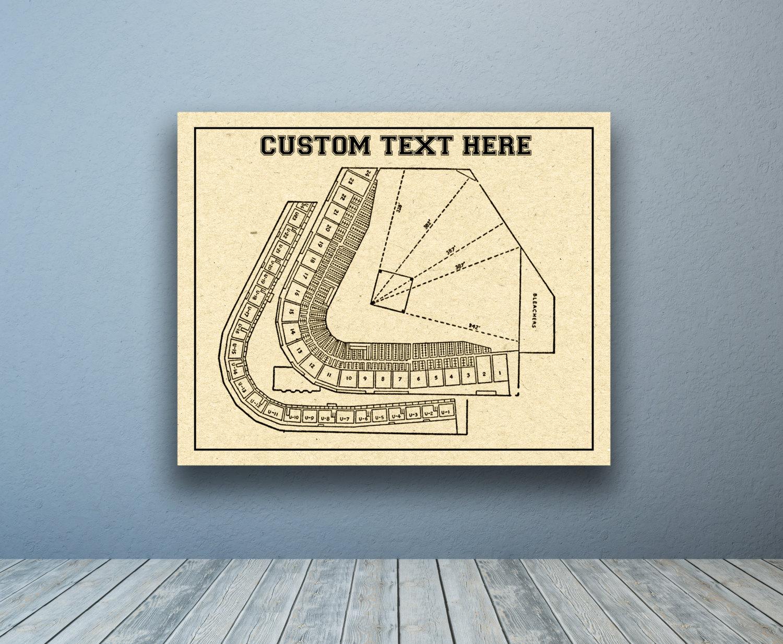 Custom any university baseball team or field printed to for 12x15 calculator