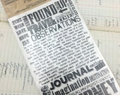Rub-Ons by Tim Holtz Idea-ology Remnant Rubs in Words Two Sheets, Ranger Ink