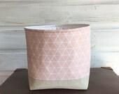 Pink Geometric Storage Basket