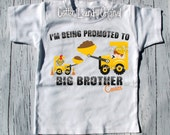 Big Brother graphic teePersonalized Can you Dig it? I'm going to be a BIG BROTHER! Pregnancy announcement