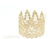 Ready to Ship    Piper    WASHABLE   vintage lace crown headband   gold or silver   all ages    photography prop   FIRMEST crowns
