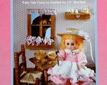 "20%OFF Fibre Fiber Craft GOLDILOCKS Fairy Tale 13"" Bed Doll - Crochet Doll Dress Clothes Clothing Pattern"
