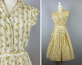 1950s Dress Set --> Vintage 2 Piece Set --> 1950s Day Dress --> 50s Dress --> 1950s Floral Dress --> 1950 Dress --> Dress 1950