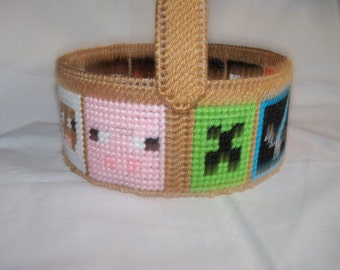 Minecraft Basket  /Easter  Basket # 1