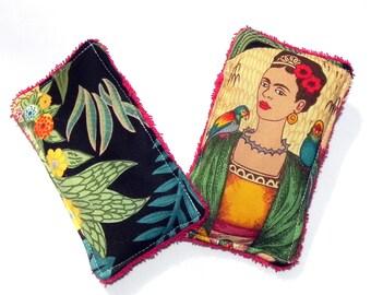 Unsponges - Set of 2 Kitchen, Shower or Bath reusable eco friendly sponges - Frida Kahlo