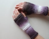 Purple Pink Black Fingerless Gloves . Gift Guide . Chiristmas , Halloveen Gift . Special Glove . Valentines Days . OOAK