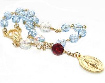 Catholic Chaplet Rosary Prayer Beads, Mother of Joy Chaplet